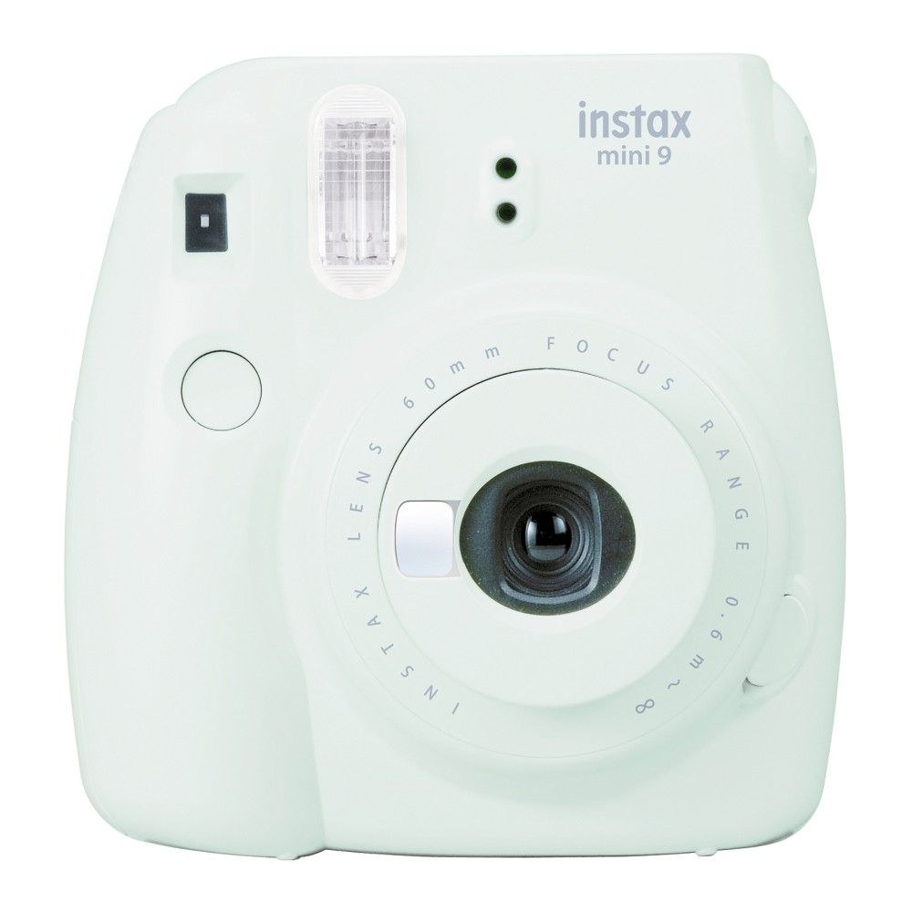 Fujifilm Instax Mini 9 Camera - Smokey White (16550629) Capture special moments with the new Fujifilm Instax Mini 9 camera that utilizes film packs (not included) to instantly provide you with photos. The new Instax Mini 9 cameras will also have a selfie mirror (similar to the Mini 25 and Mini 70) and will come with a Macro lens attachment. Color: Smokey White.