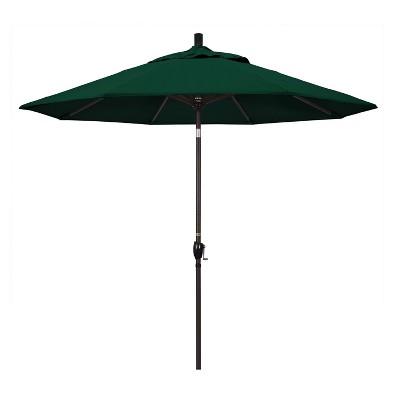 9u0027 Aluminum Push Buton Tilt Crank Sunbrella Patio Umbrella   California  Umbrella