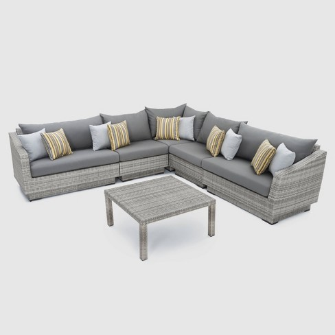 RST Brands Cannes 6-piece Sectional and Table Set