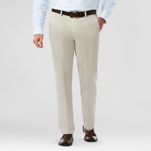 Haggar H26 Men's Classic Fit No Iron Stretch Khaki Pants- Sand 32x34 - image 1 of 2