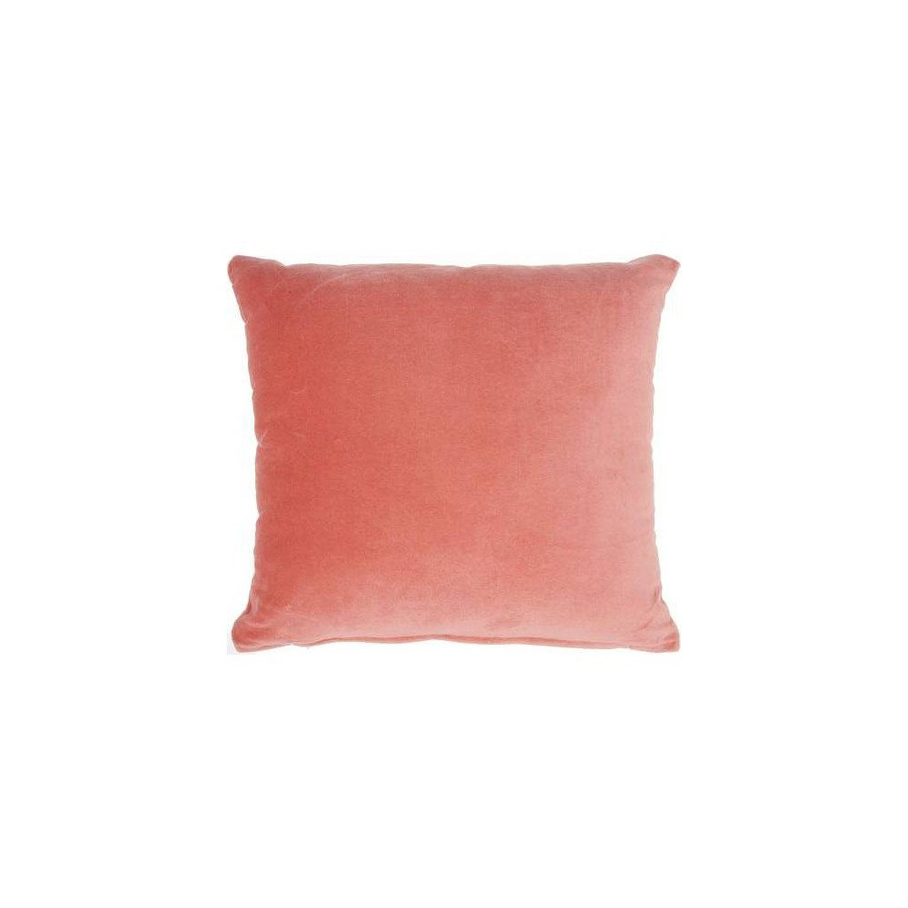 Image of Life Styles Solid Square Throw Pillow Blush - Nourison