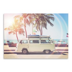 AmericanFlat Retro Van  by Sisi and Seb Unframed Print