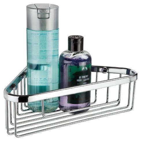 "10"" Bath Boutique Corner Basket Chrome - Better Living Products - image 1 of 4"