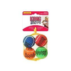 Kong SqueakAir Tennis Ball Dog Toy - Multicolor - S - 4ct