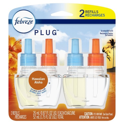 Febreze Plug Odor-Eliminating Air Freshener Refills - Hawaiian Aloha - 2 ct - image 1 of 4
