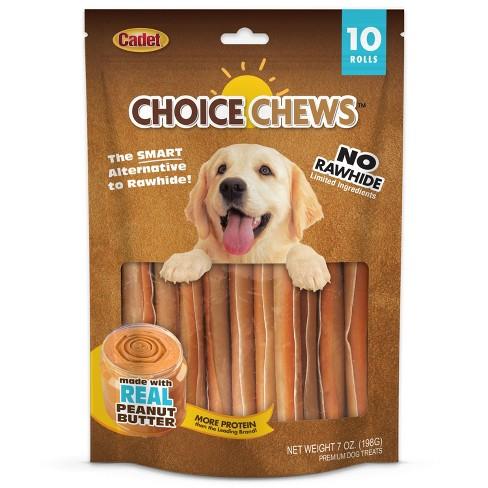 Cadet Choice Chews Peanut Butter Rolls Dog Treats - 10ct - image 1 of 2