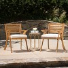 Hermosa 2pk Acacia Wood Arm Chair - Christopher Knight Home - image 2 of 4