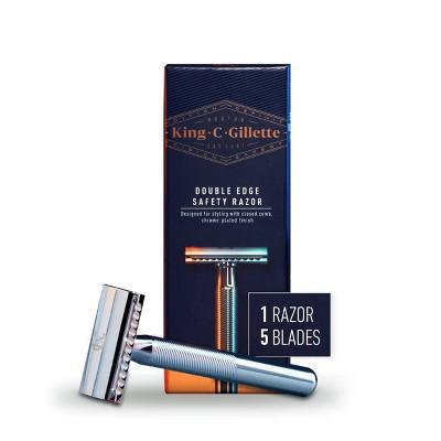 King C. Gillette Men's Double Edge Safety Razor+ 5 Double Edge Refill Blades