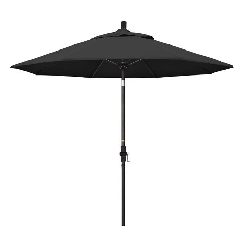 9' Patio Umbrella in Black - California Umbrella - image 1 of 2