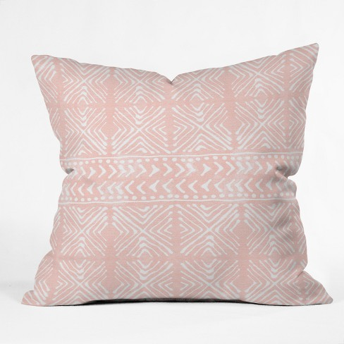 Pink Geometric Throw Pillow - Deny Designs - image 1 of 4
