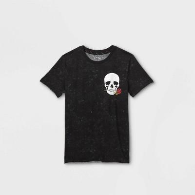 Boys' Skull Graphic Short Sleeve T-Shirt - art class™ Black