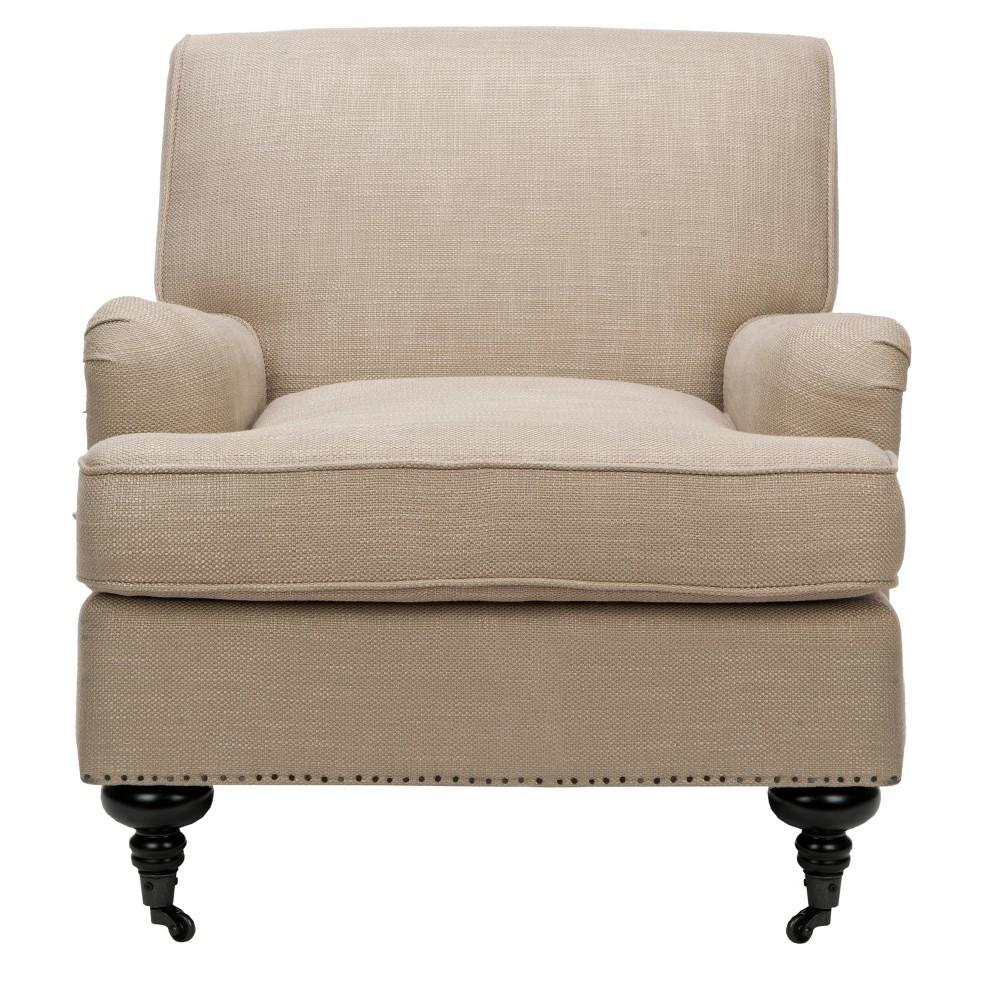 Sasha Club Chair Tan - Safavieh, Antique Gold