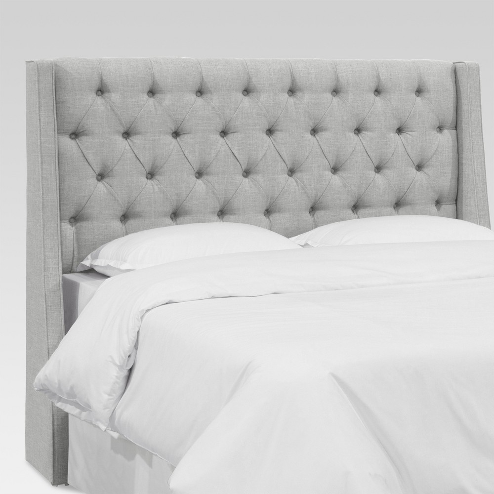 Full Gilford Tufted Wingback Headboard Zuma Pumice - Threshold