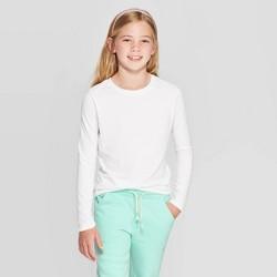 Girls' Crew Neck Long Sleeve T-Shirt - Cat & Jack™ White