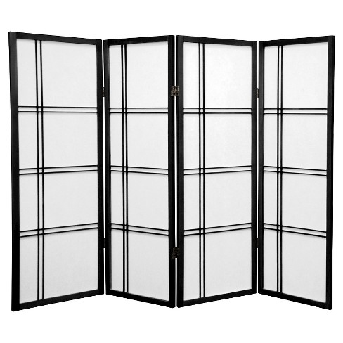 4 ft. Tall Double Cross Shoji Screen (4 Panels) - Oriental Furniture - image 1 of 1