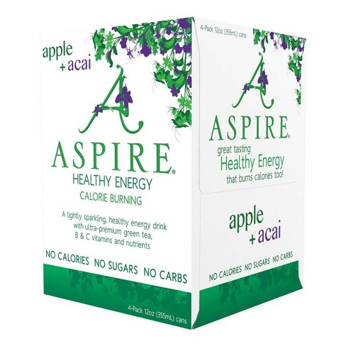 Aspire Healthy Energy Apple + Acai - 4pk/12 fl oz Cans - image 1 of 4