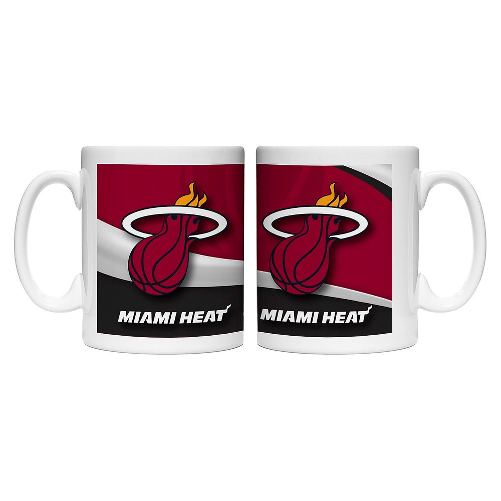 NBA Wave Style Mug 15oz 2pk - Miami Heat