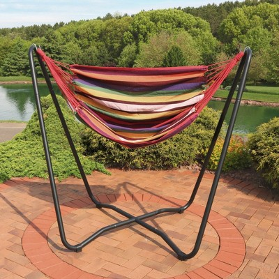 & Hammock Chair Swing and Stand Set - Sunset - Sunnydaze Decor : Target