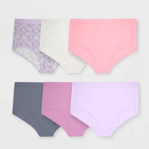1985f76fc32 Fit For Me By Fruit Of The Loom Women s Plus 6pk Microfiber Classic Briefs    Target