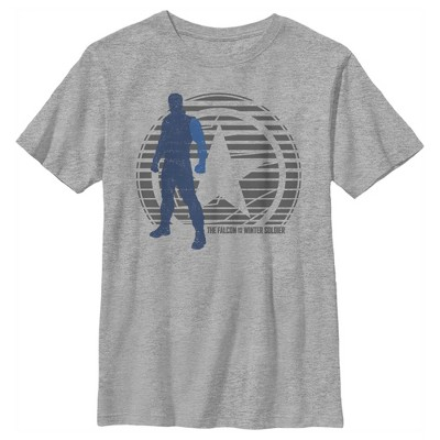 Boy's Marvel The Falcon and the Winter Soldier Abstract Bucky T-Shirt
