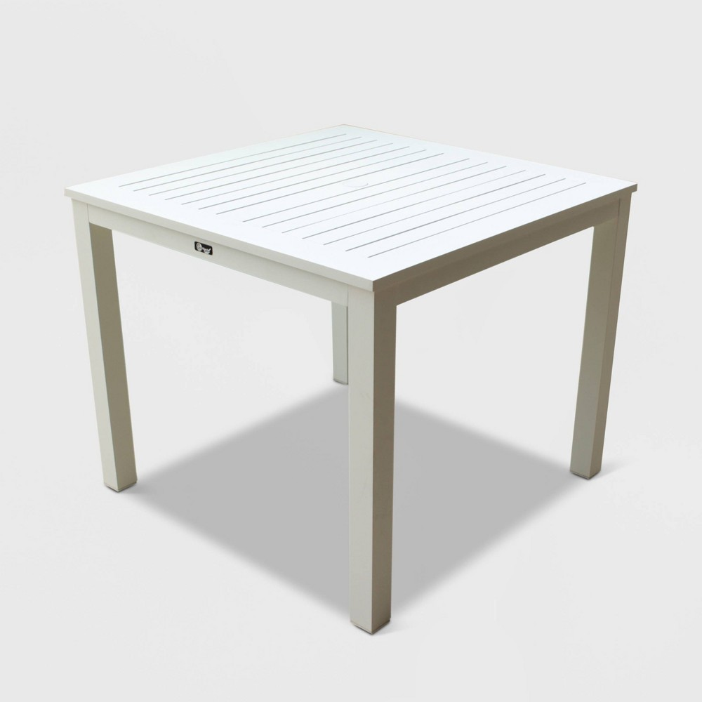 Skyline Aluminum Outdoor Square Dining Table - White - Courtyard Casual
