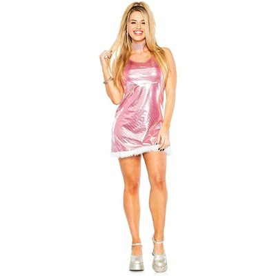 High School Reunion Adult Costume Dress   Pink