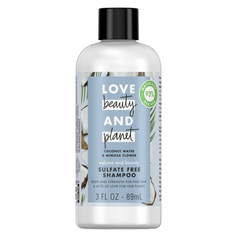 Love Beauty & Planet Coconut Water & Mimosa Flower Volume and Bounty Shampoo Travel Size - 3 fl oz - image 1 of 4