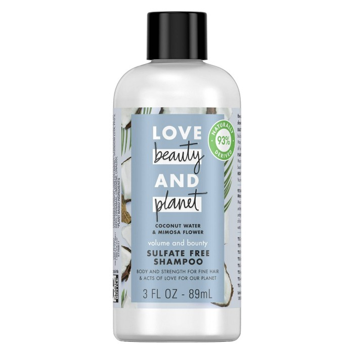 Love Beauty & Planet Coconut Water & Mimosa Flower Volume And Bounty Shampoo - 3 Fl Oz : Target