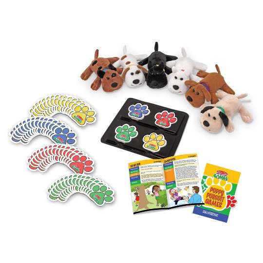 Melissa & Doug Puppy Pursuit Games - 6 Stuffed Dogs, 60 Cards - 10 Games With Variations image number null