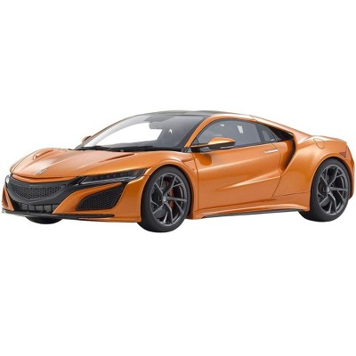 Honda NSX RHD (Right Hand Drive) Orange Metallic with Carbon Top 1/18 Model Car by Kyosho