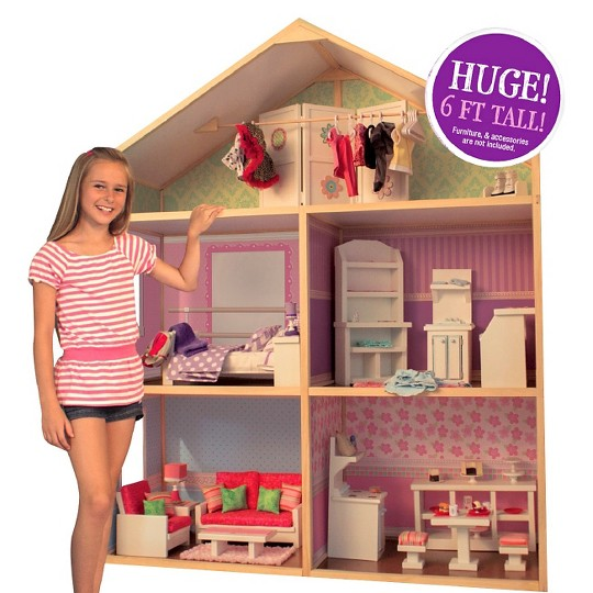 My Girls' Wooden Dollhouse for 18'' Dolls - Dollie & Me Style, Boy's image number null