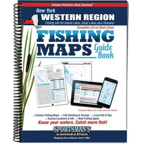 New York Western Region Fishing Maps Guide Book (Paperback) - image 1 of 1