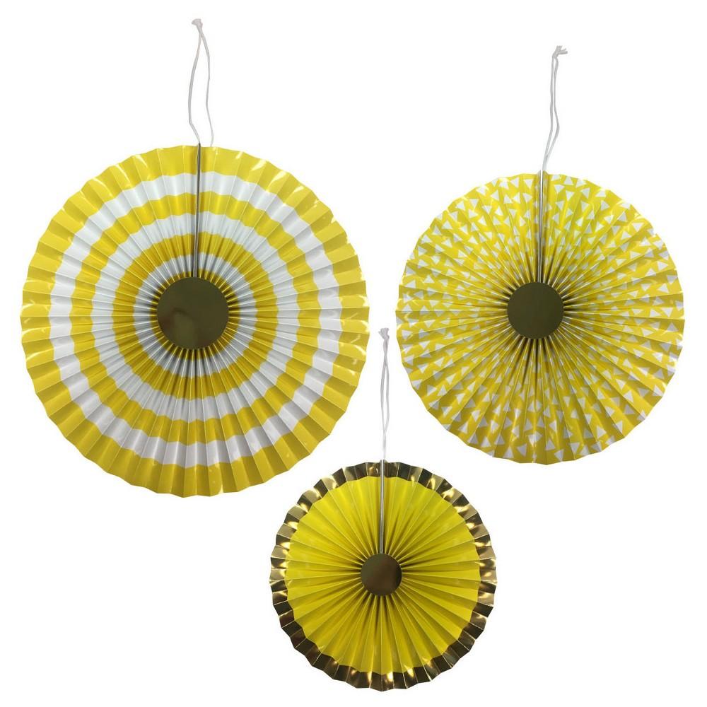 3ct Yellow Paper Fan - Spritz, Women's