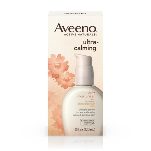 Aveeno® Ultra-Calming® Daily Moisturizer For Sensitive Skin With Broad Spectrum SPF 15 - 4 fl oz - image 1 of 8