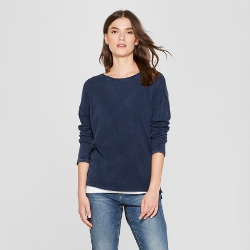 bc42c0c32f Women s Drop Shoulder Long Sleeve T-Shirt - Universal Thread™ Navy M ...