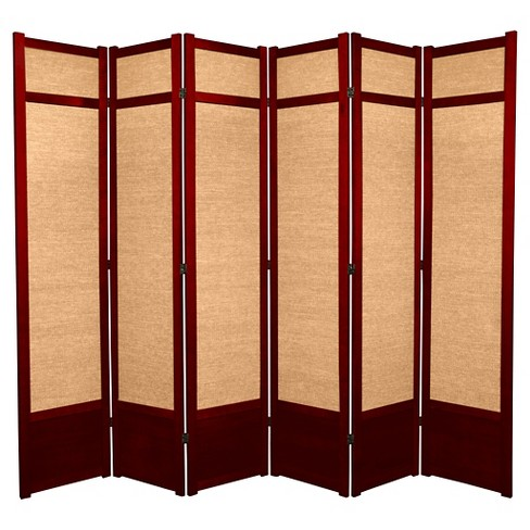 7 Ft Tall Jute Shoji Screen Rosewood 6 Panels Target