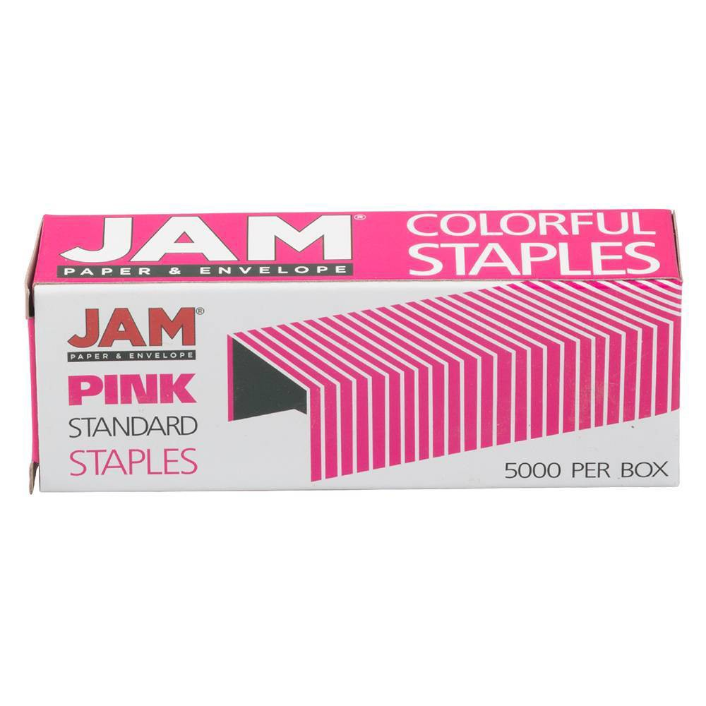 Jam Paper 5000ct Standard Size Colorful Staples Pink