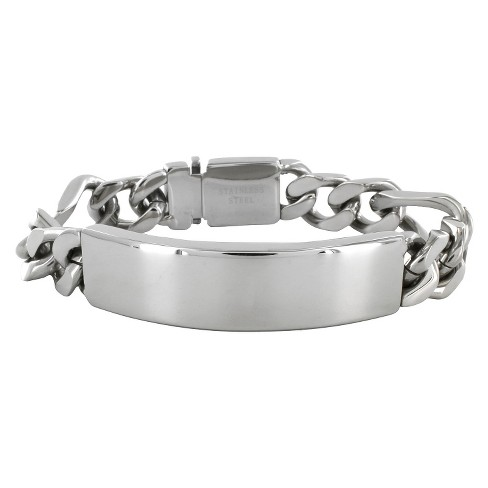 Men's Crucible Stainless Steel Figaro Chain ID Bracelet - image 1 of 3