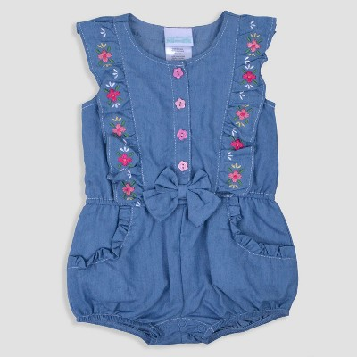 Baby Girls' Chambray Romper Nate & Annee™ Blue 18M