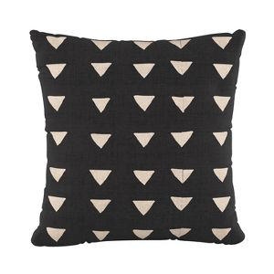 Triangle Square Throw Pillow Black White Skyline Furniture Target