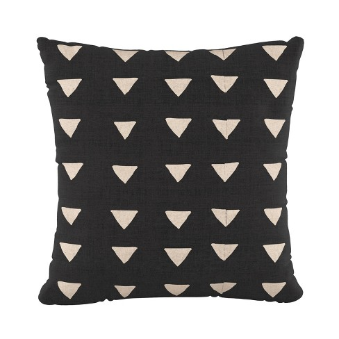 Triangle Square Throw Pillow Black/White   Cloth & Company : Target