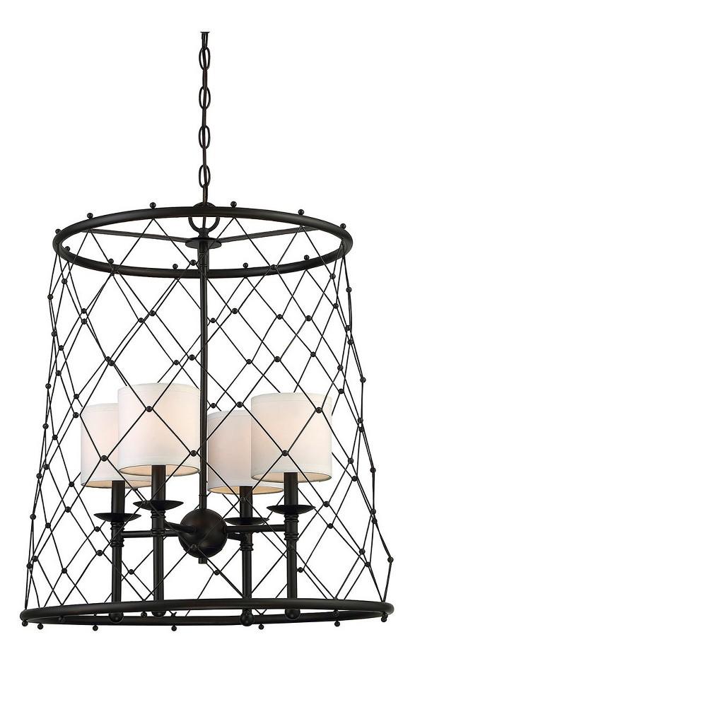 Oiled Rubbed Bronze Pendant Ceiling Lights (Set of 4) - Filament Design