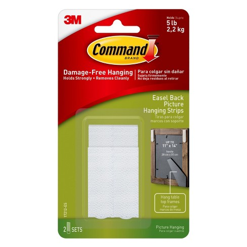 Command Easel Back Picture Hanging Strips 2pk Target