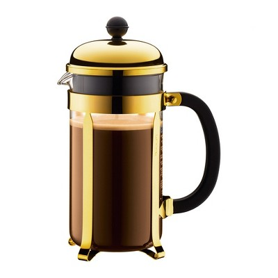 French Press Pot Chambord Coffee Gold - Bodum