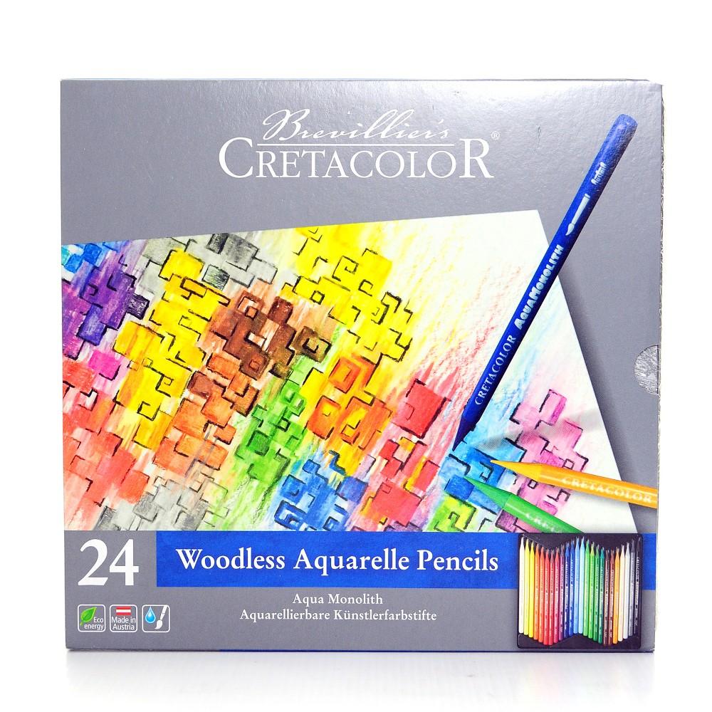 Aqua Monolith Watercolor Pencil Set - Cretacolor 24ct, Multicolored