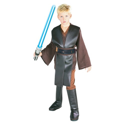 Halloween Star Wars Anakin Skywalker Boys' Deluxe Costume - Small (4-6), Boy's, Size: Small(4-6), Clear