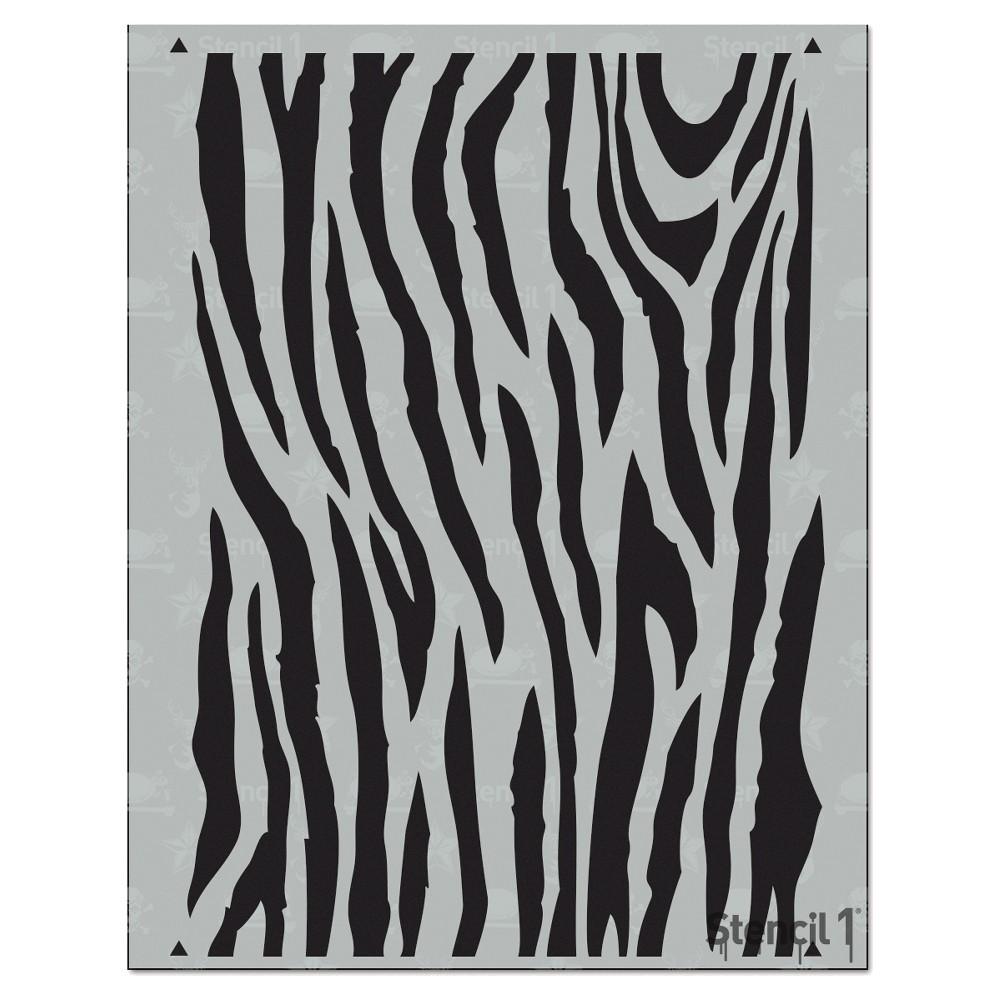 Stencil1 Zebra Repeating Stencil 8 5 34 X 11 34