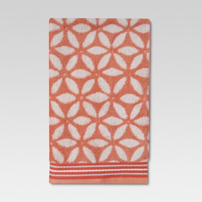Floral Hand Towel Coral - Threshold™