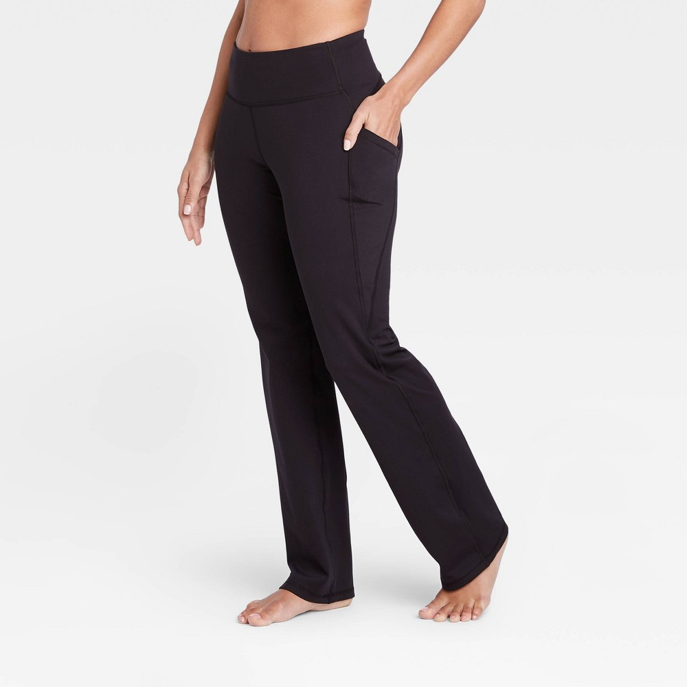 Women 39 S Contour Curvy High Waisted Straight Leg Pants With Power Waist 28 5 34 All In Motion 8482 Black Xxl Short