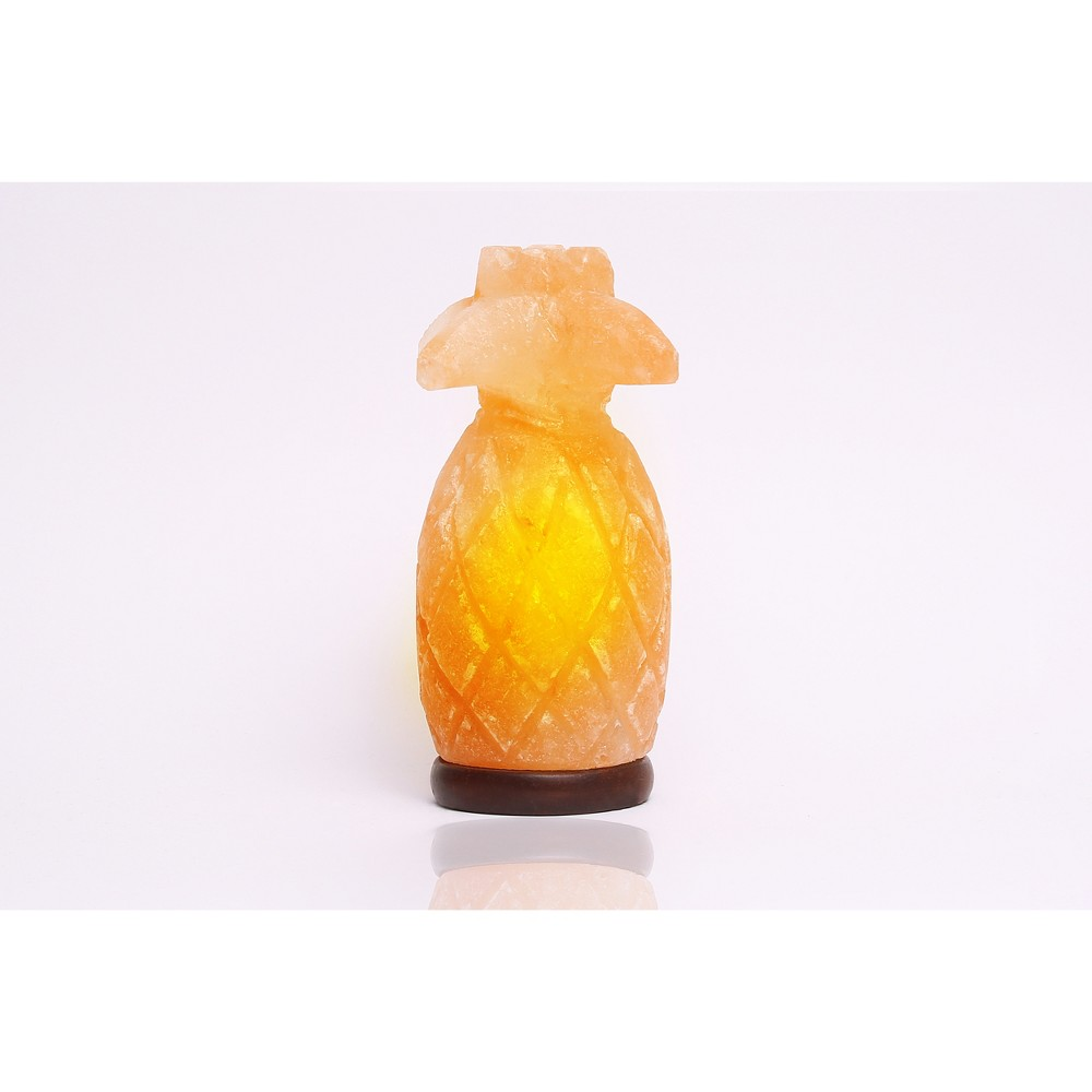 Image of Pineapple Table Lamp Pastel Pink - Q&A Himalayan Salt